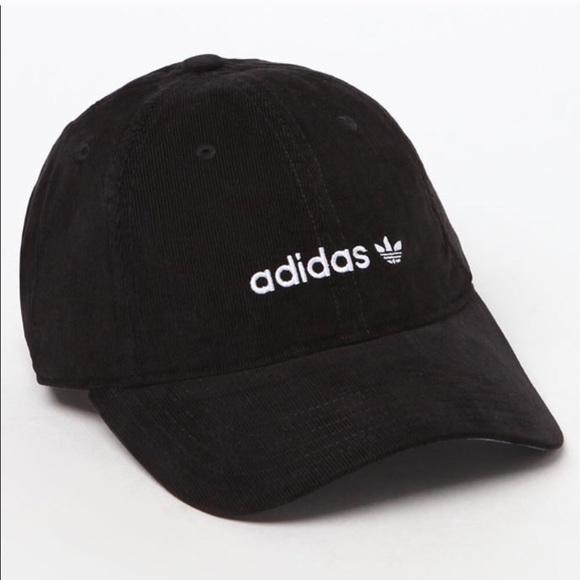 fbaf6e015ae8 Adidas Originals black corduroy baseball cap NWT